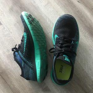 Nike Free Flyknit Racer 4.0 Green Black